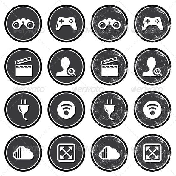 Retro Web Navigation Icons Set