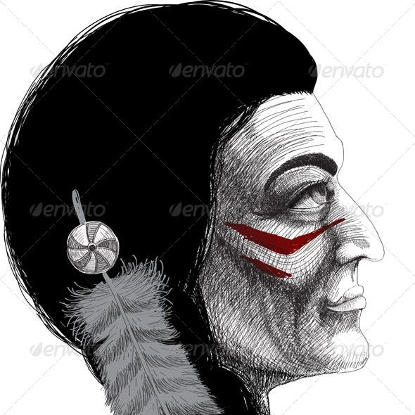 Portrait of an Indian Warrior