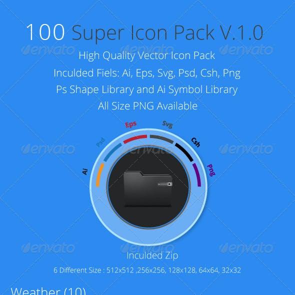 100 Super Icons Pack v.1.0
