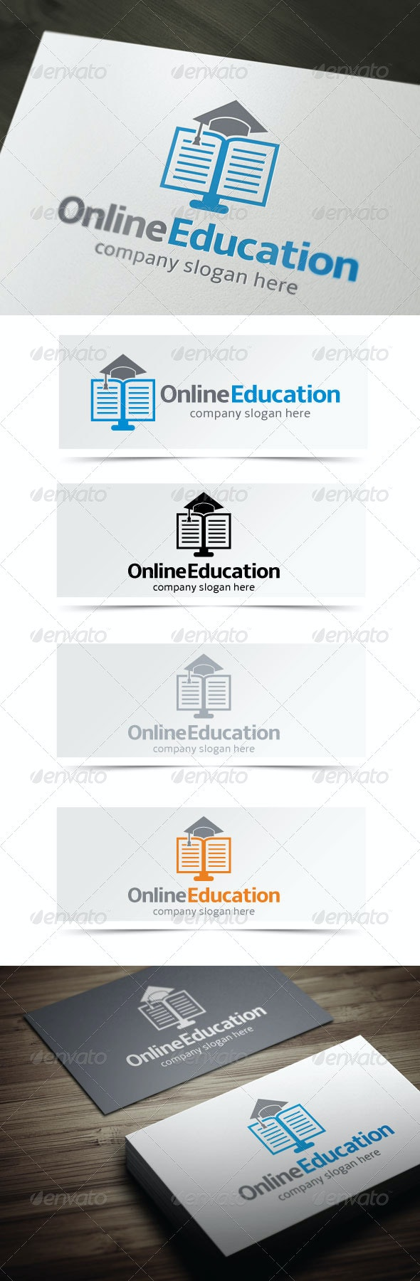 Online Education - Objects Logo Templates