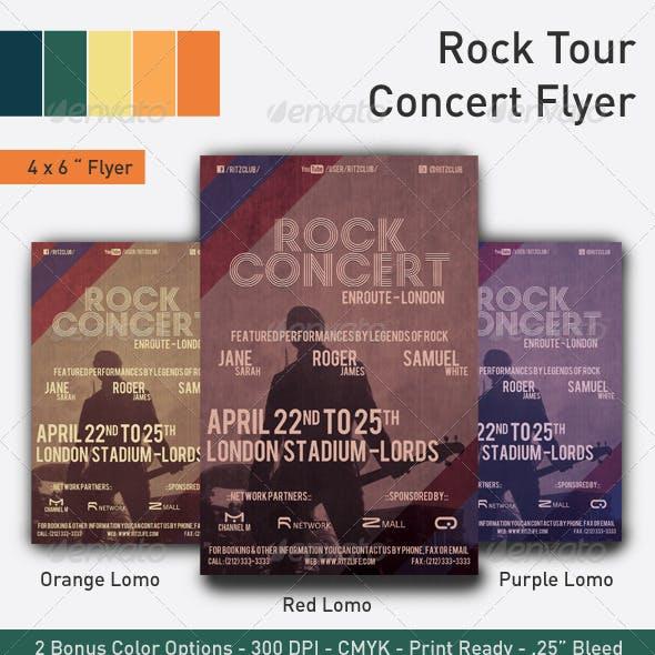 Rock Tour Concert Flyer