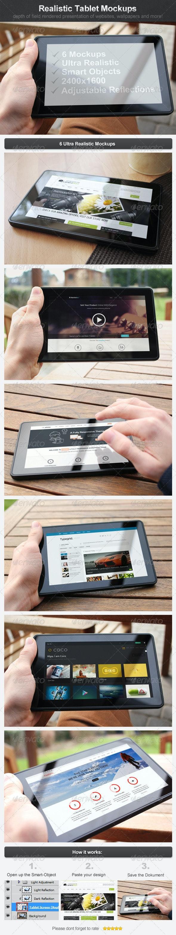 Realistic Tablet Mockups - Mobile Displays