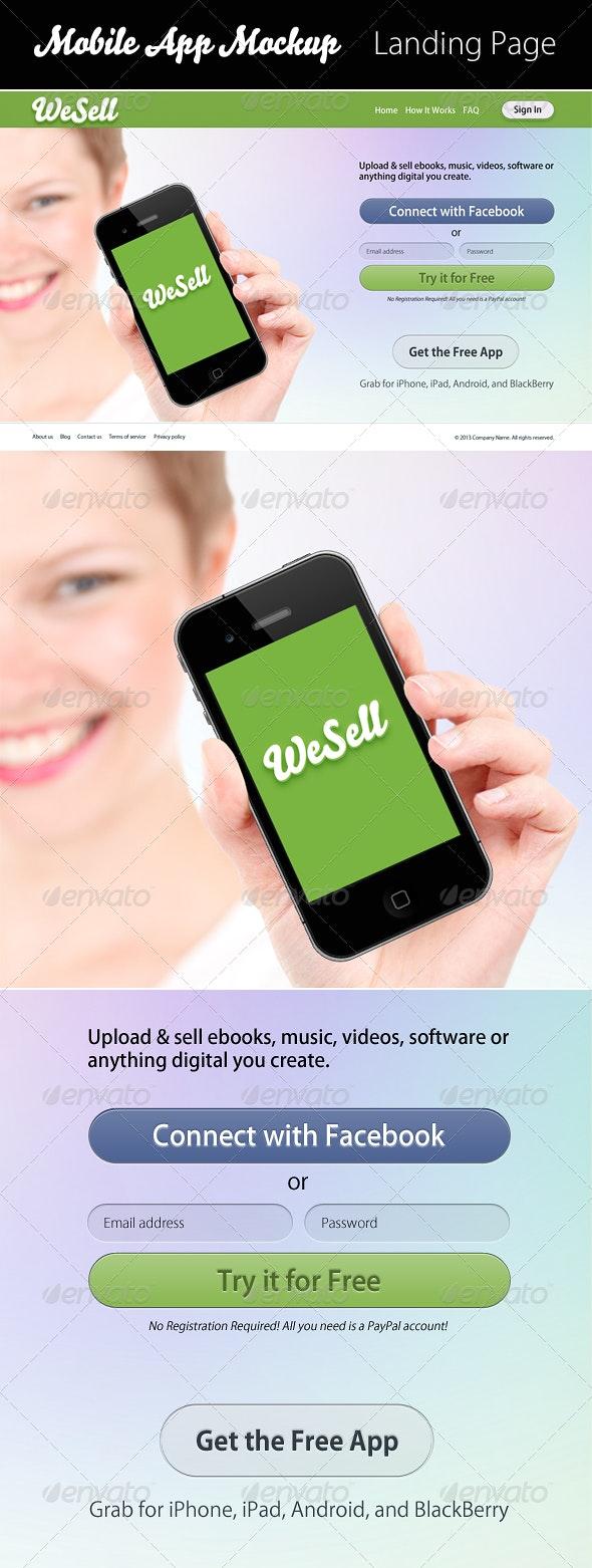 WeSell Mobile App Mockup - Mobile Displays
