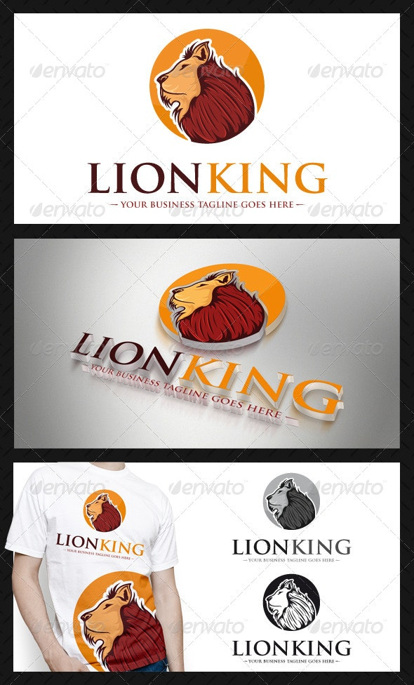 Lion Logo Template - Animals Logo Templates