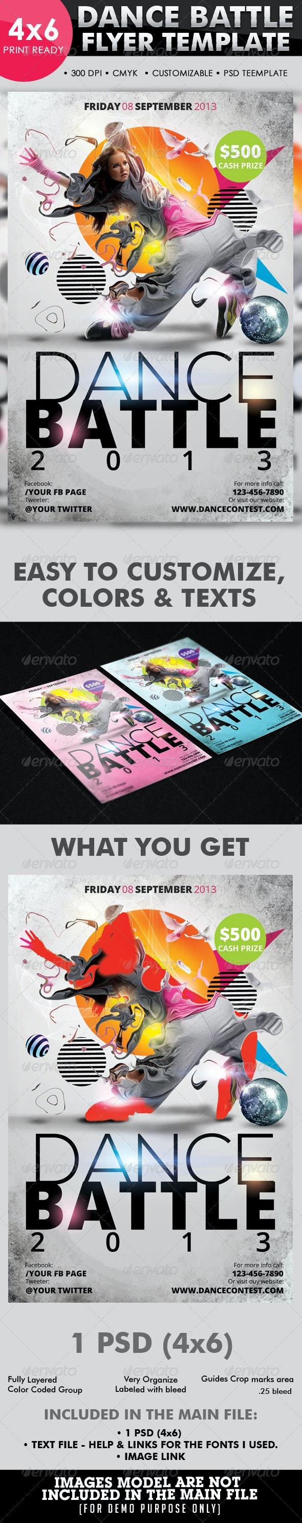 Dance Battle Flyer Template - Flyers Print Templates