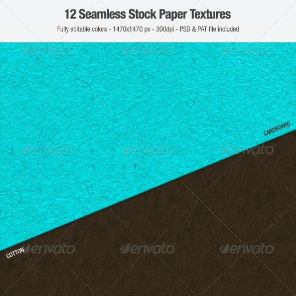 12 Seamless Paper Textures