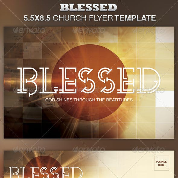 Blessed Church Flyer Template
