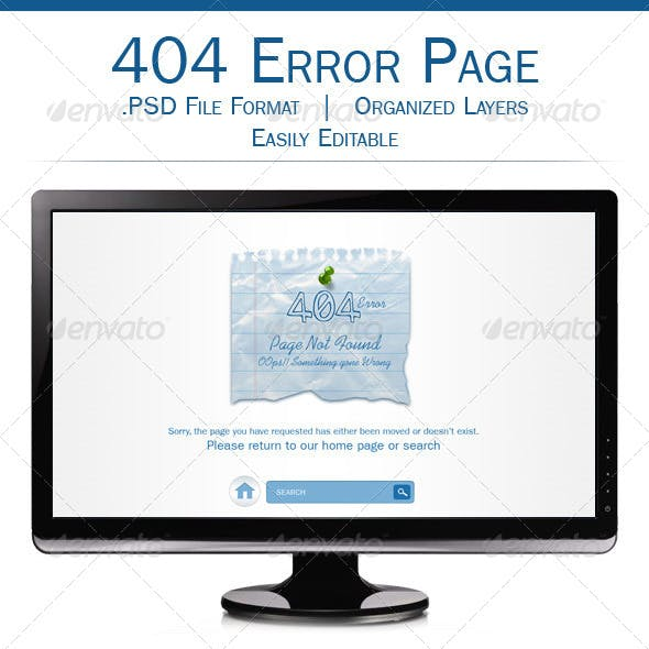 Multipurpose 404 Error Page Template