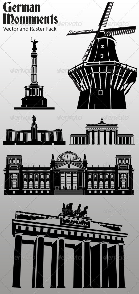 German Monuments - Buildings Objects