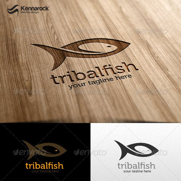 Tribal Fish Logo Template