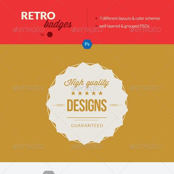 Retro Photoshop Badges / Vintage Minimal Labels
