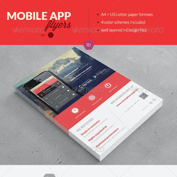 Mobile Application Promotion Flyers / Phone App