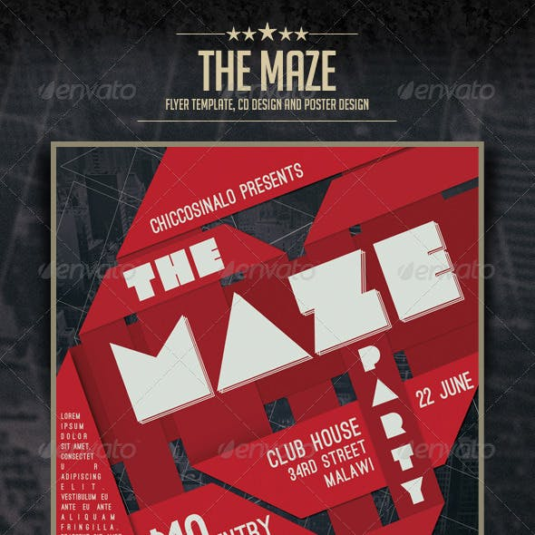 The Maze Flyer Template