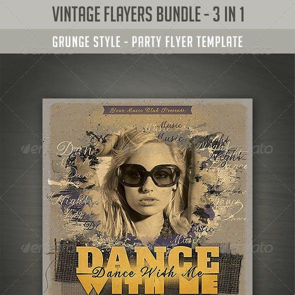 Vintage Style Flyers Bundle