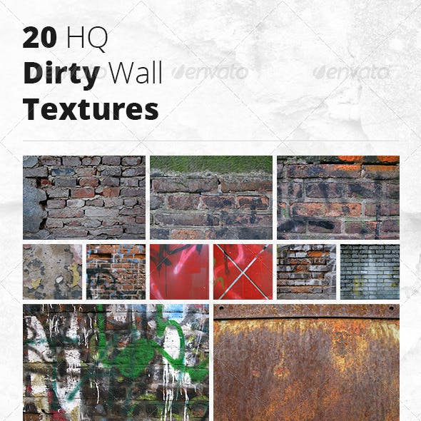 20 HQ Dirty Wall Textures