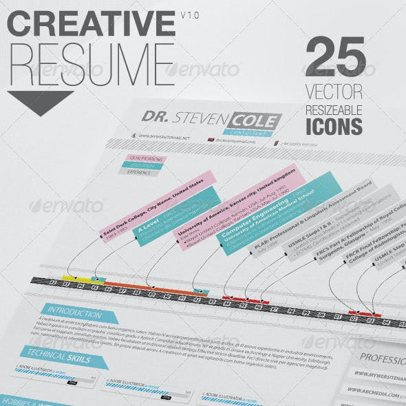 Creative Resume | Cover Letter & Icon Pack