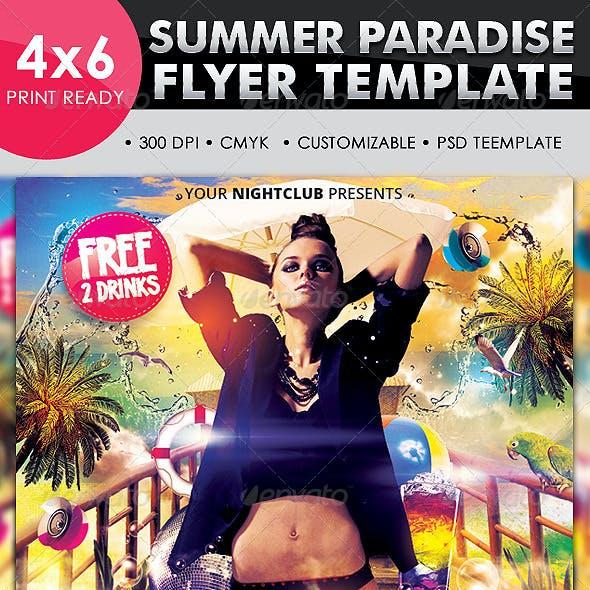 Summer Paradise Flyer Template