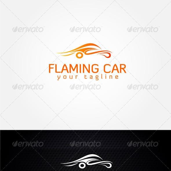 Flaming Car Logo