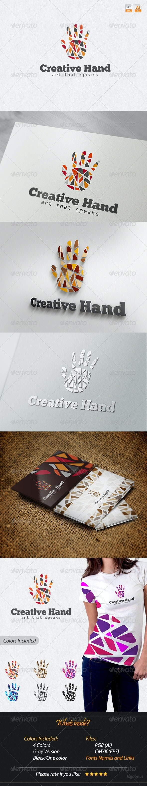 Creative Hand - Art that Speaks Logo - Humans Logo Templates