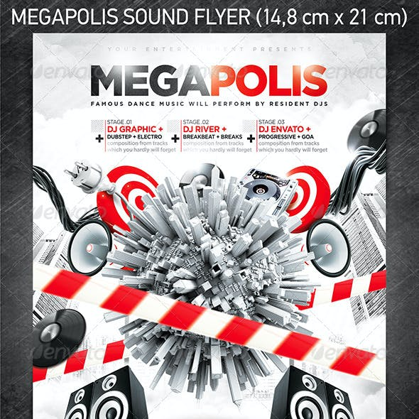 Megapolis Sound Party Flyer