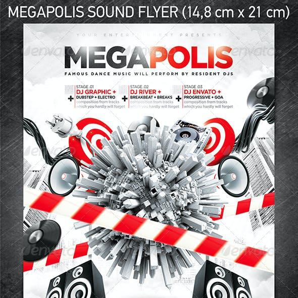 Megapolis Sound Party Flyer
