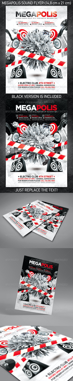 Megapolis Sound Party Flyer - Clubs & Parties Events