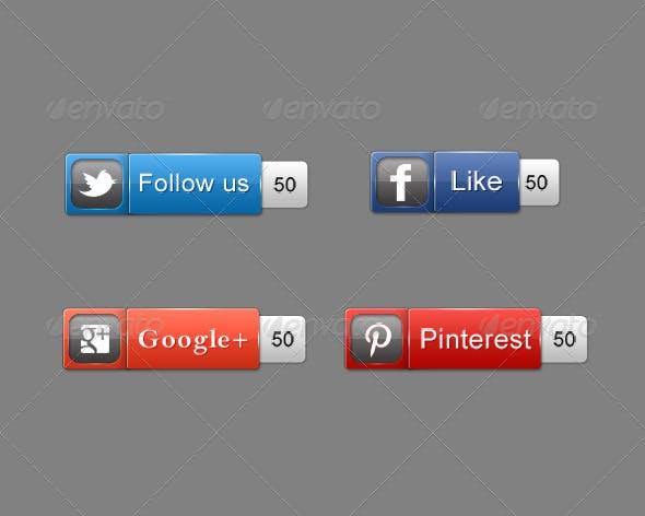 Super Glossy Social Button
