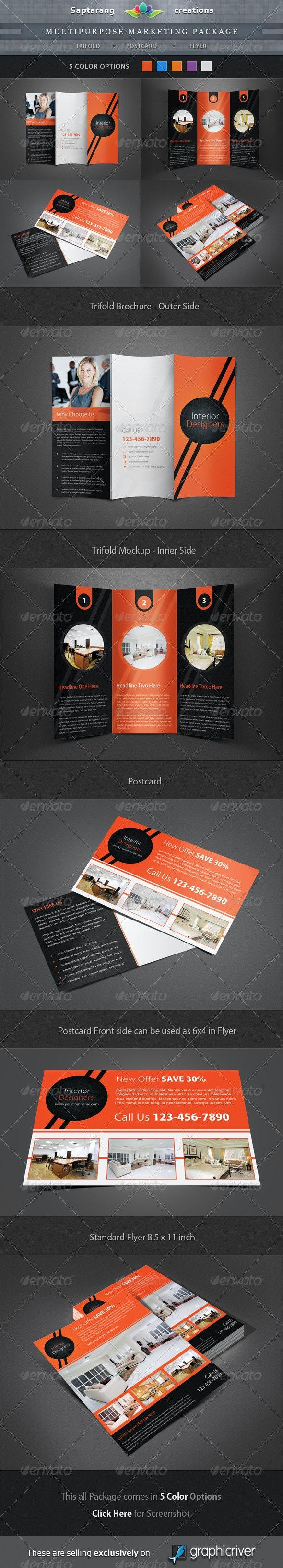 Multipurpose Marketing Package - Corporate Brochures