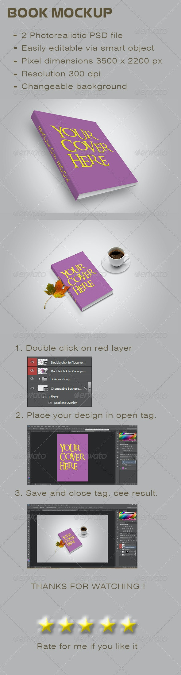 Book Mockup - Print Product Mock-Ups
