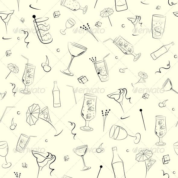 Seamless Background on Alcohol