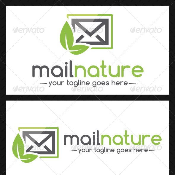 Mail Nature Logo Template