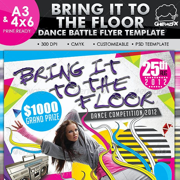 Bring It To The Floor Flyer Template