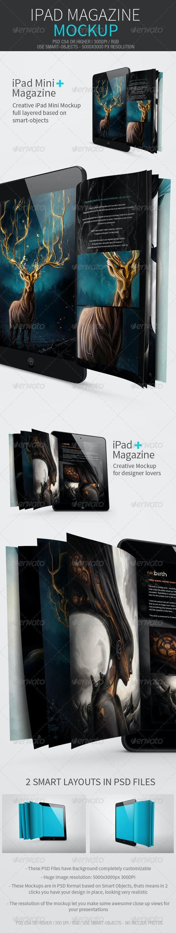 iPad Magazine Mockup - Magazines Print