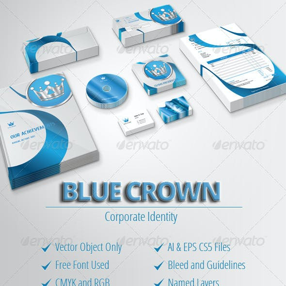 Blue Crown - Modern Corporate Stationery