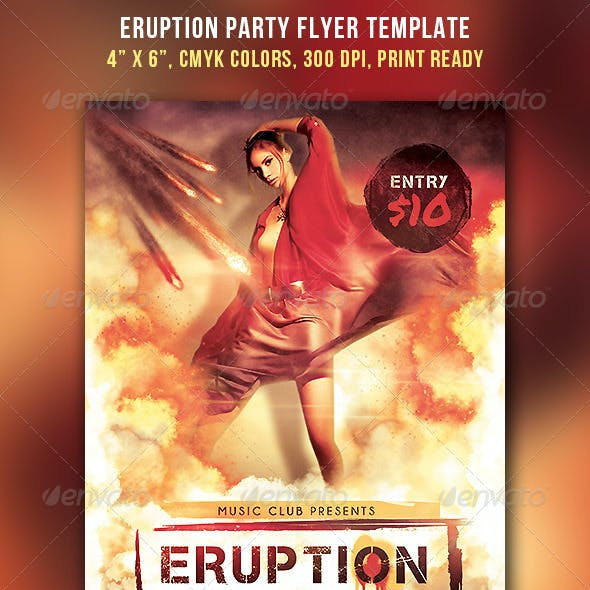 Eruption Party Flyer