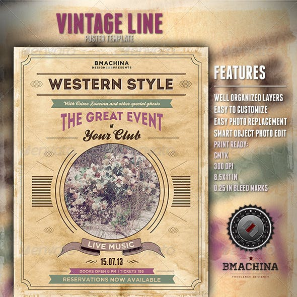 Poster Template - Modern Western Style