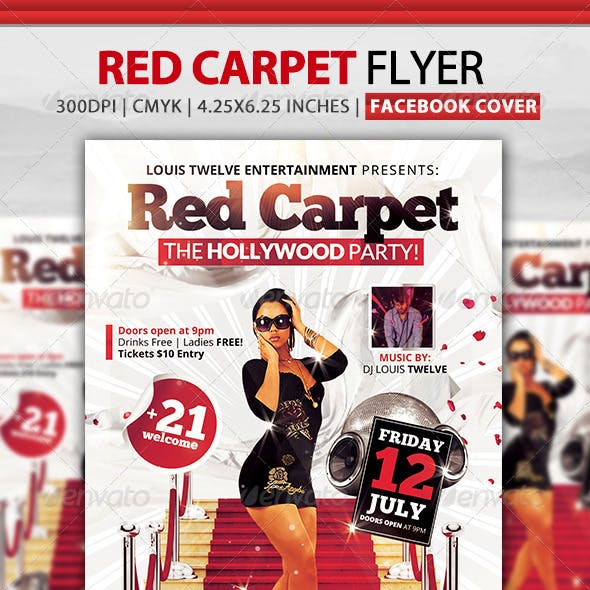 Red Carpet Party | Flyer + Facebook Cover