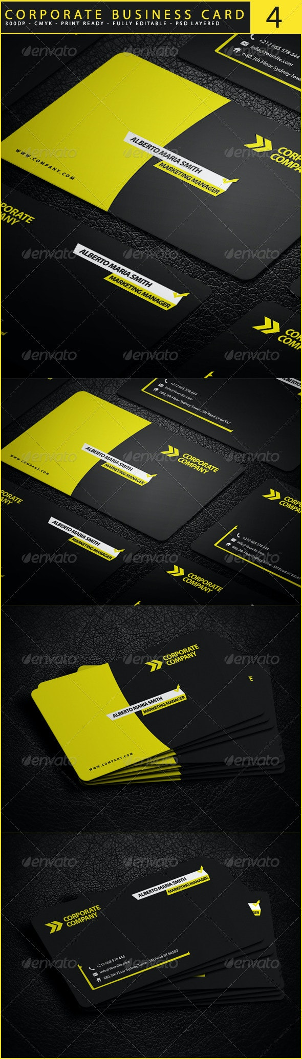 Corporate Business Card 4 - Corporate Business Cards