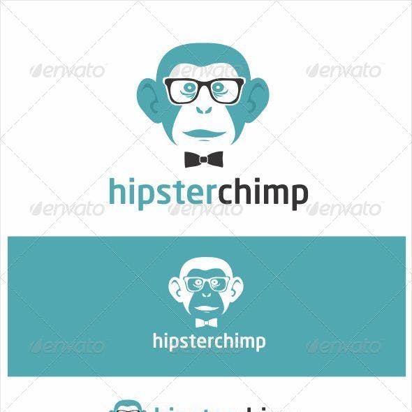 Hipster Chimp Logo