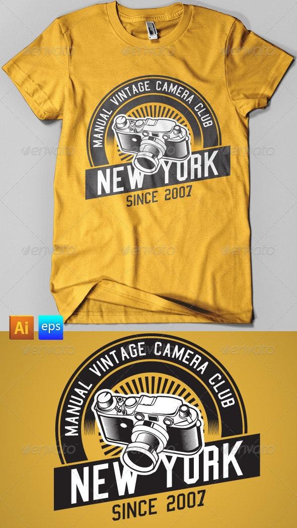vintage camera club tees - T-Shirts
