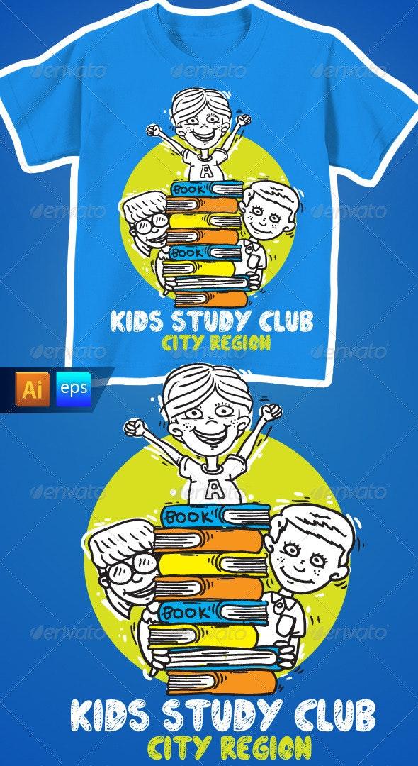 Kids Study Club T-Shirt - Funny Designs