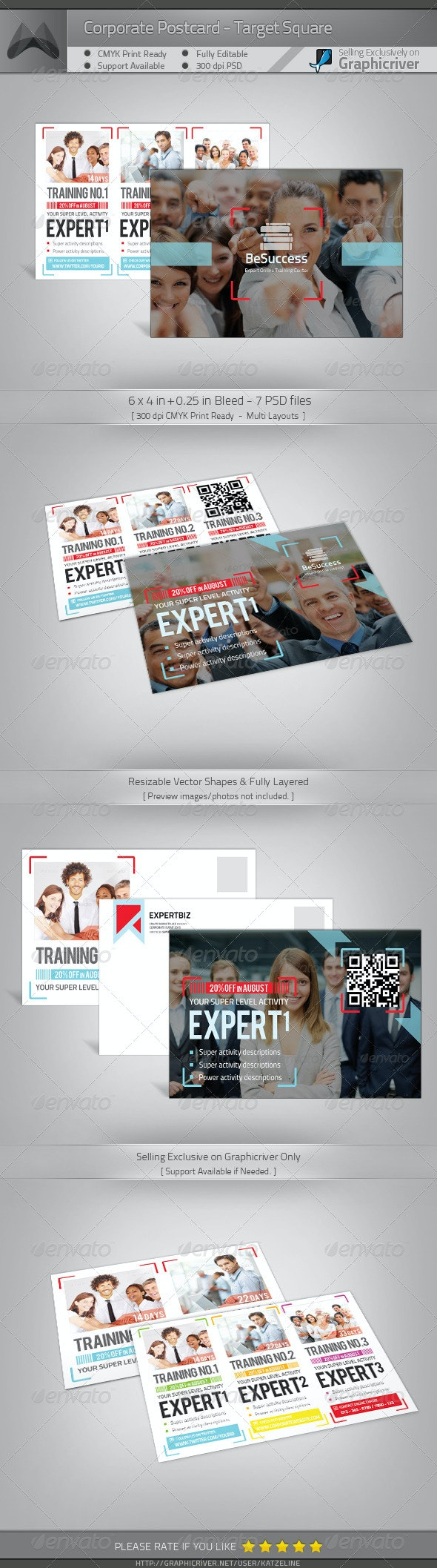 Corporate Postcard - Target Square - Commerce Flyers