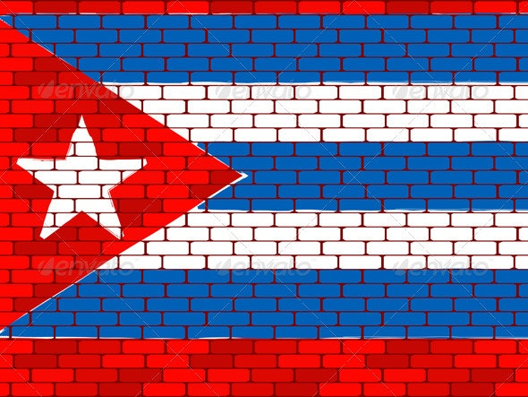 Background a flag of Cuba - Characters Vectors