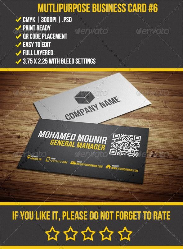 Multipurpose Business Card 6 - Business Cards Print Templates