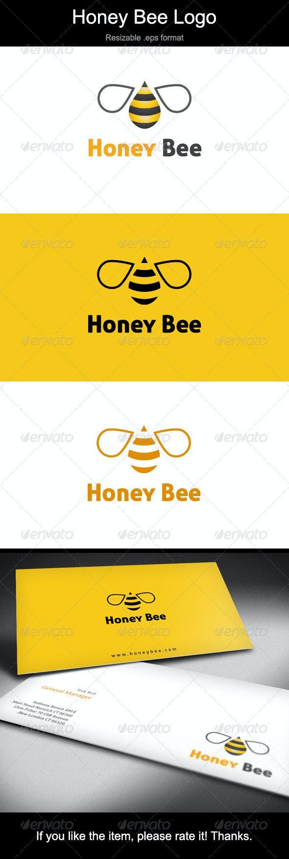 Honey Bee Logo - Animals Logo Templates