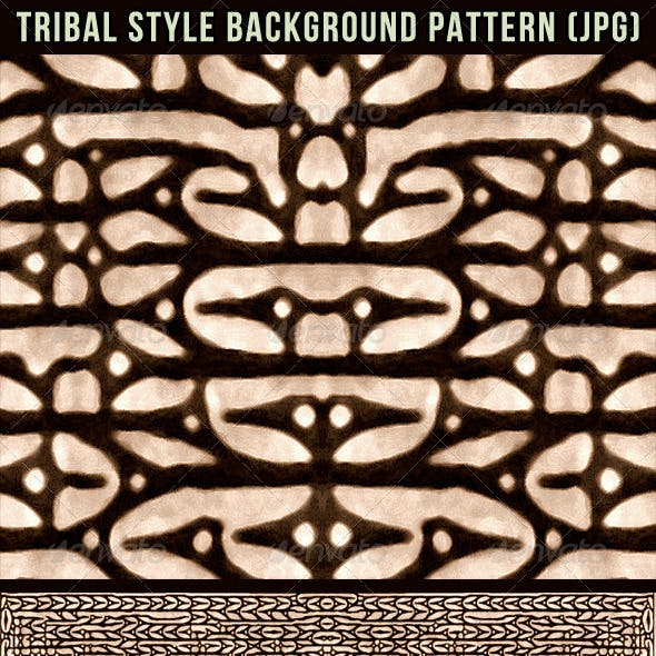 Tribal Style Background Pattern
