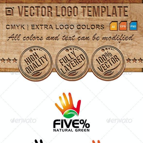 Eco, Hand, Leaf Vector Logo Template