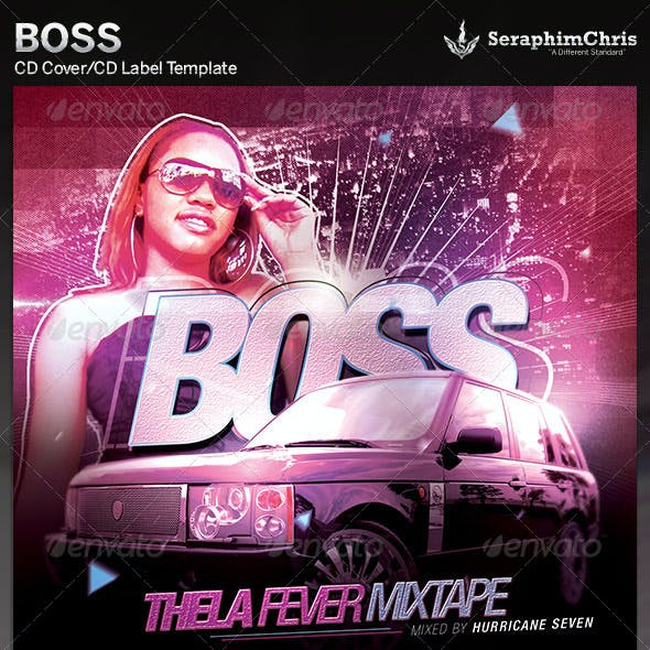 Boss: CD Cover Artwork Template