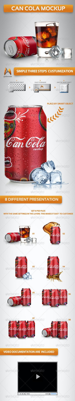 Can Soda Mockup - Miscellaneous Product Mock-Ups