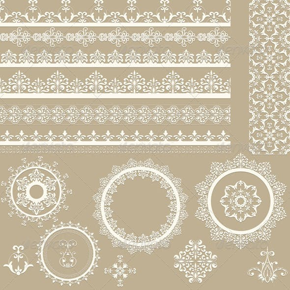 Lacy Ribbons Napkins and Design Elements